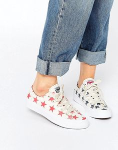 huge selection of e706f 3cb32 Converse All Star Chuck Taylor Miss Match Cream Stars Ox II Plimsoll  Trainers at asos.com