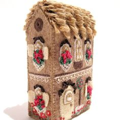 Soap Box House Miniature Hand Embroidered by TwoLeftHands on Etsy