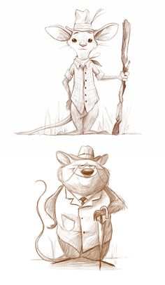 The country mouse and the city mouse on behance пушисты, 2019 character des Disney Sketches, Disney Drawings, Cartoon Drawings, Mouse Illustration, Character Illustration, Animal Sketches, Animal Drawings, Croquis Disney, Mouse Sketch
