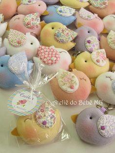 Ateliê do Bebê MG: Lembrancinha Chaveiro Pássaros ( Cecília )