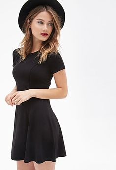 Fit & Flare Dress | FOREVER21 - 2000085041 Size Small Absolute essential. Had a dress like this but lost it ;___;