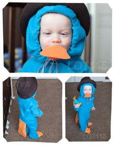 perry the platypus kids costume diy