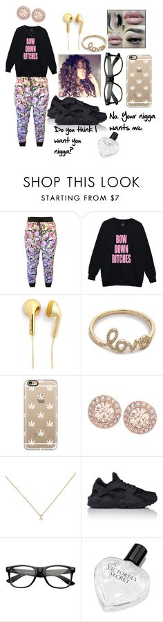 """""""01/30/16"""" by shaniq-00 ❤ liked on Polyvore featuring Happy Plugs, EF Collection, Casetify, Givenchy, NIKE and Victoria's Secret"""