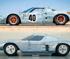 Mid Engined Supercar Concepts That Should Have Been Made Ford Gt Road Car These Blueprints Are Ford Drawings Done To Determine Differences Between The