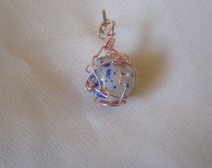 Wire wrapped marble pendent