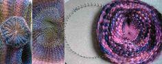 Boinas tejidas en telar circular Els Telers de la Iaia