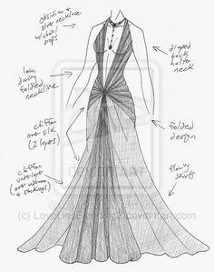 Dibujo vestido