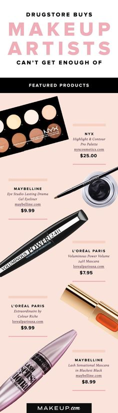 Makeup artists work with some of the best beauty products in the world, but even they love a good deal! We spoke with our favorite beauty masters about the drugstore beauty products that they love.