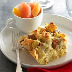 Three-Cheese Artichoke Strata From Better Homes and Gardens, ideas and improvement projects for your home and garden plus recipes and entertaining ideas.