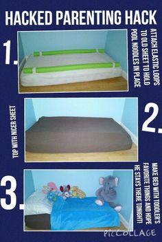 Parenting hack double hacked! Pool noodle toddler bed hack