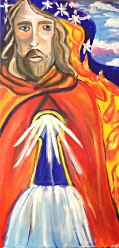 Through the water and the flame - prophetic art painting