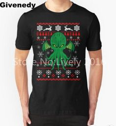 Cthulhu Ugly Christmas Sweater Mens & Womens Printing T shirt Comfortable T Shirt
