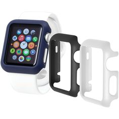 Trident Case Odyssey Guard For Apple Watch 3 Pk (42mm Black And White And Blue)
