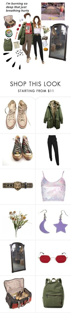 """Thinking youre the only option"" by short-skirt-long-jacket ❤ liked on Polyvore featuring Converse, Yves Salomon, Gucci, Abigail Ahern, Old Navy, Athalon and Herschel Supply Co."