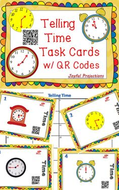 Your students will love practicing reading these clocks and checking their work with a QR reader!