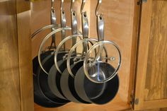 Glideware revolutionizes the way cookware is stored with easy lid storage!  www.Glideware.com