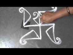 flower like rangoli design - K100 - YouTube
