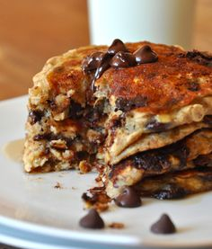 -happy book: warm chocolate chip pancakes