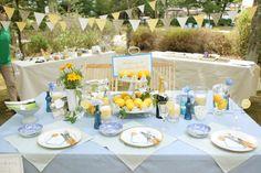 青と黄色のテーブルコーディネート - Blue and Yellow table decoration
