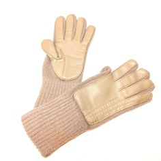48811d2b3 Women's Vintage Hipster Knitted Gloves Acrylic Faux Leather Vinyl Trim  Brown #fashion #clothing #shoes #accessories #womensaccessories  #glovesmittens (ebay ...