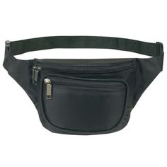Fanny pack black faux leather hip pouch apparel accessories storage organize outdoor activewear sportswear fashion style cool hot 80s 90s