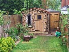I absolutely LOVE a creative tool shed. Who says that a shed has to be a backyard eyesore, lets turn an constraint into an opportunity! Please NO RUBBERMAIDS!