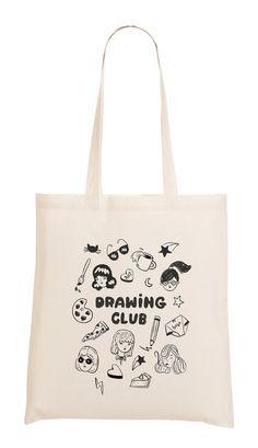 Drawing Club  tote bag by melissachaib on Etsy, $15.00