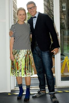 Stefano Gabbana with Vogue's Lucinda Chambers. Personal style, what is it? REad more: http://www.aboutawomanaboutagirl.com/what-is-personal-style-and-do-you-have-it/
