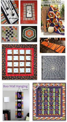 Quilt Inspiration: Free Pattern Day: Halloween.  Updated August 1, 2013.  New patterns were added.