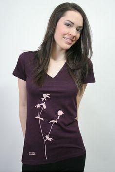 Klee-Shirt, bordeaux von Spangeltangel auf DaWanda.com