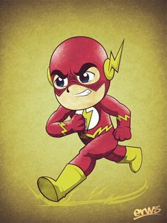 Chibi the flash Cartoon Cartoon, Cartoon Drawings, Easy Drawings, Chibi, Marvel Vs, Marvel Dc Comics, Character Drawing, Comic Character, Dc Speedsters