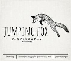 Saltar fox fotografía logo Eps y Png archivo de por CorvusAttic