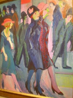 Ernst Ludwig Kirchner Street Scene, 1926, Milwaukee Museum of Art, Milwaukee, Wisconsin | Flickr - Photo Sharing!