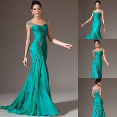 Sexy elegant Mermaid Chiffon Bridal Prom Dress Formal Wedding Evening party Gown | Clothing, Shoes & Accessories, Women's Clothing, Dresses | eBay!