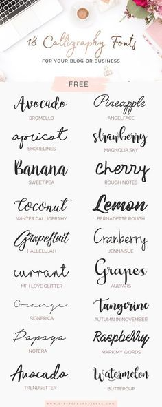 (9) 18 free calligraphy fonts for your blog or business | blogging | Pinterest
