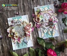Boho Spring cards by Maria Lillepruun