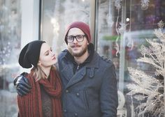 couple, love, gaze, woman looking at man, girlfriend, boyfriend, winter, cold, hug, intimacy