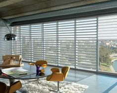 Hunter Douglas Pirouette Window Shades and Calgary Window Treatments available on display at our Showroom. Decor, Contemporary Decor, House Design, Contemporary Windows, Blinds, Contemporary Window Treatments, Custom Window Coverings, Window Coverings, Window Styles