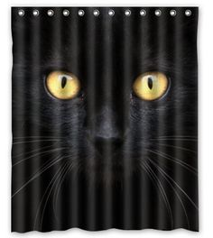 """BravoVision the Black Cat in the Dark Waterproof Polyester Shower Curtain 60"""" x 72"""" Shower Curtain http://www.amazon.com/dp/B00MYO8J3U/ref=cm_sw_r_pi_dp_ZuZeub10A69ZF"""