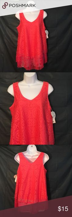 NWT Self Esteem XL Pink Fringe Tank Self Esteem size XL brand new with tags pink fringe tank top ....BUNDLE 4 or More save30%!!!....FREE GIFT..Choose your free gift by either commenting on the gift or commenting on one of the items you purchased indicating which # gift you would like!! $$20 purchase or More ONLY!!! Self Esteem Tops Tank Tops