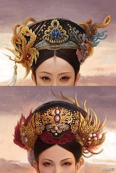 Empress of Qing dynasty,China -pin it from carden Culture Art, Chinese Culture, Traditional Fashion, Traditional Outfits, Traditional Chinese, Geisha, Costume Chinoise, Beijing, Chinese Hairpin