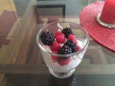 greek yogurt and fresh berries - my typical breakfast