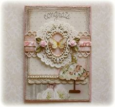 Wedding Congrats Card **Websters Pages 'In Love'** - Scrapbook.com    created by Gabriellep   ----Wendy Schultz onto Cards.
