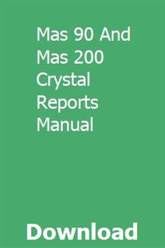 22 Best Crystal Reports images in 2016 | Crystal reports, Make it