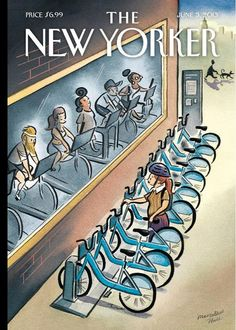 """Marcellus Hall's """"Urban Cycles"""", The New Yorker - June 3, 2013."""