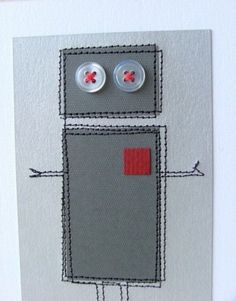 Ridiculously cute and simple card...I love the little square heart.
