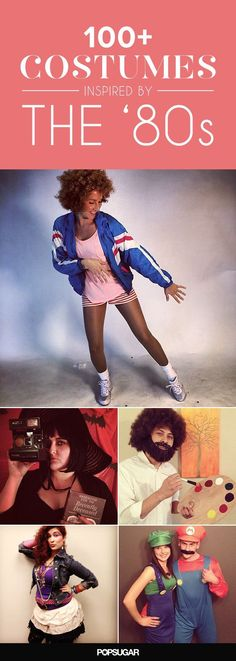 101 Totally Rad Halloween Costumes Inspired by the Looking for an Halloween costume? From couples costumes to creative solo masterpieces, these DIY costumes are totally tubular. 80s Halloween Costumes, Hallowen Costume, Diy Costumes, 80s Party Costumes, Easy 80s Costume, Cartoon Character Halloween Costumes, Eighties Costume, Costume Ideas, Eighties Party