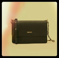 DKNY SHOULDER/CROSSBODY BAG Black Leather, DKNY Shoulder Bag With Adjustable Strap So It Can Be Worn As A Shoulder Bag Or Crossbody Bag. 1 Inside Pocket, 1 Outside Pocket Along The Back Side Of Bag, Snap Closure And Adjustable Strap. DKNY Bags Crossbody Bags