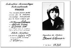 Today in history, June Bessie Coleman becomes the first African American/ Native American woman to get a pilots license from the Federation Aeronautique Internationale. She had to go to. Today In History, History Class, Women In History, Black History, Native American Women, American History, American Flights, Bessie Coleman, Becoming A Pilot