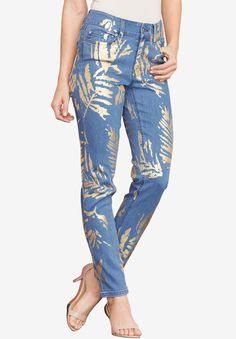 3594af8ab8c Foil Print Jean with Invisible Stretch® by Denim 24 7®